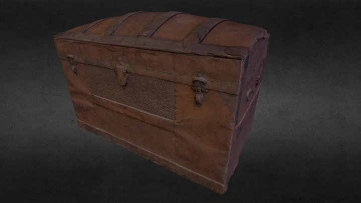 Antique French Canadian trunk 3D Model