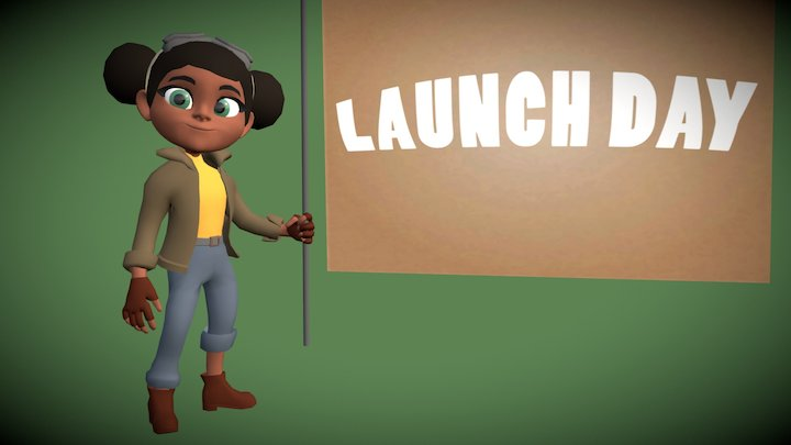 Abby From Launch Day 3D Model