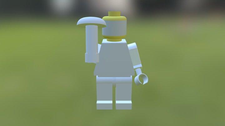 Assembled Lego Man 3D Model