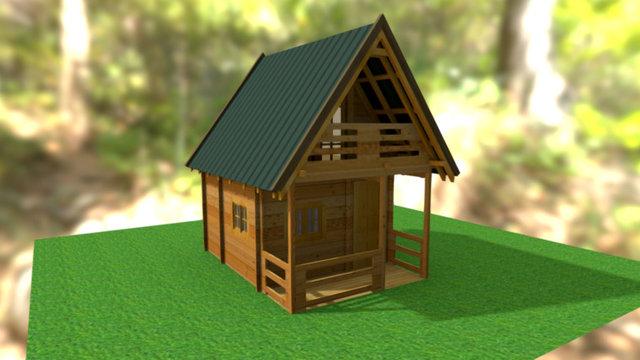 Castor - small wooden house 3D Model