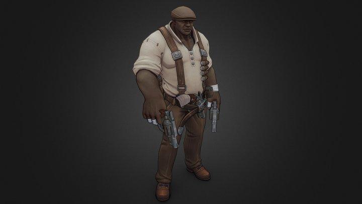 Rage Squad: Tyrone The Crook 3D Model