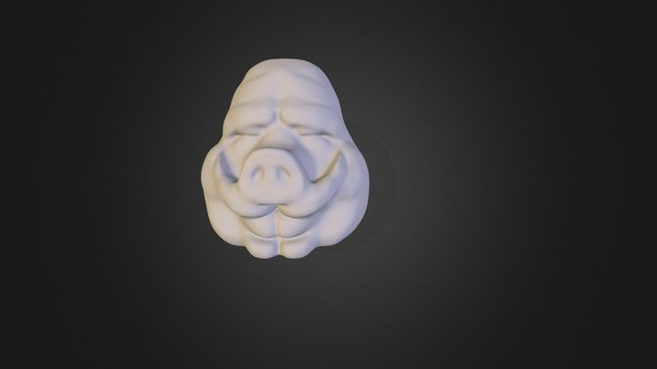 SadPigHappyPig_50k 3D Model