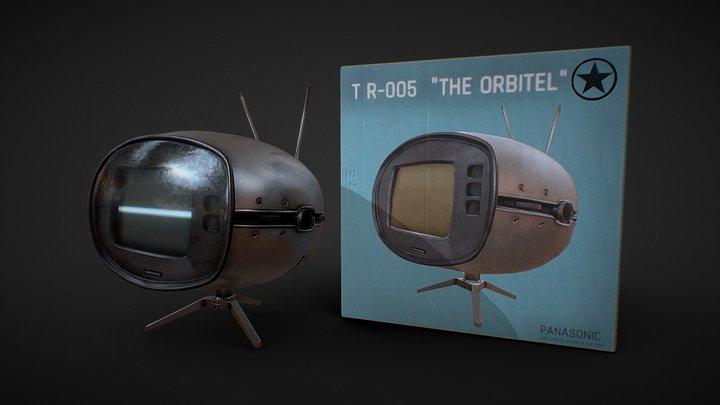 Retro Television 3D Model