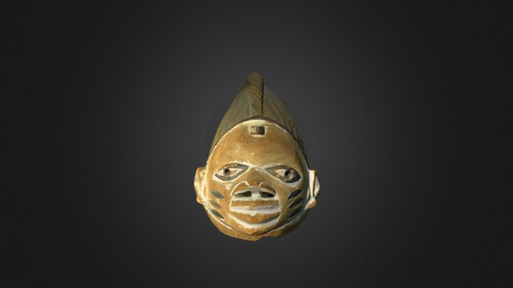 The Gelede Mask 3D Model