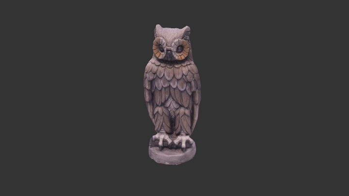 Gamma the Owl 3D Model