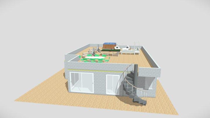 Appartamento numero 10 copertura del piano 3D Model