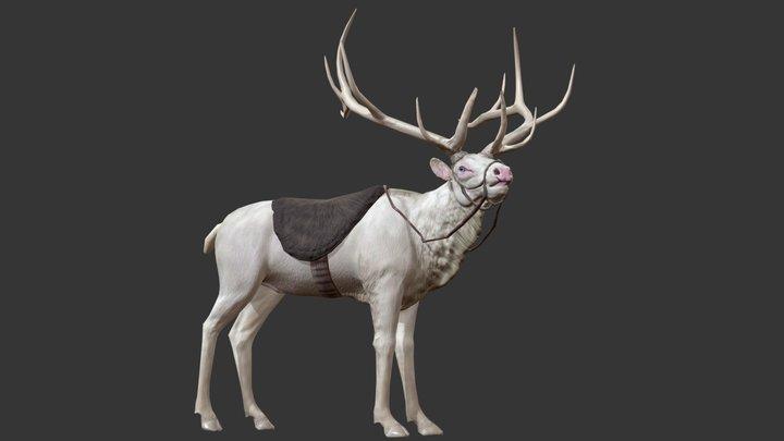 AlbinoElk 3D Model
