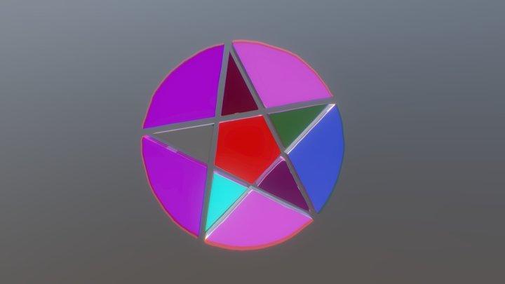 Rainbow Pentacle 3D Model