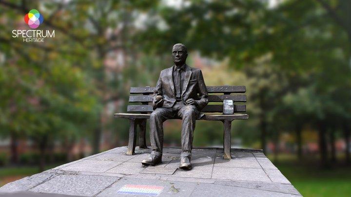 The Alan Turing Memorial 3D Model