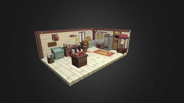 Gravity Falls Mystery Shack 3D Model