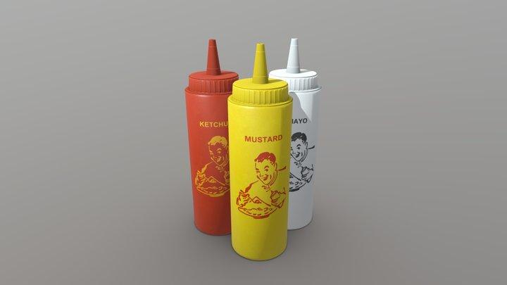 Ketchup, Mustard and Mayo 3D Model