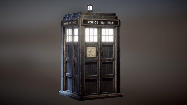 Tardis 10th Doctor Fan Art 3D Model