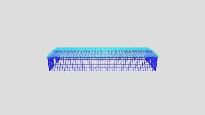 ангар 12х36 профиль 140 3D Model