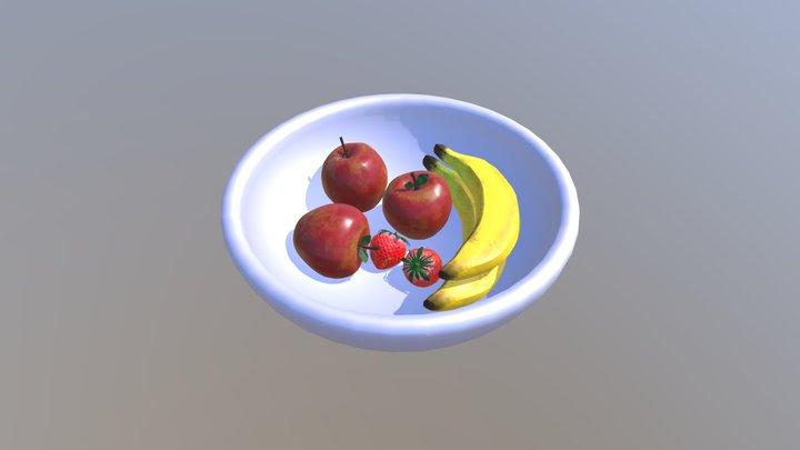 3D Digital Literacy - Organic Model - Fruit Bowl 3D Model