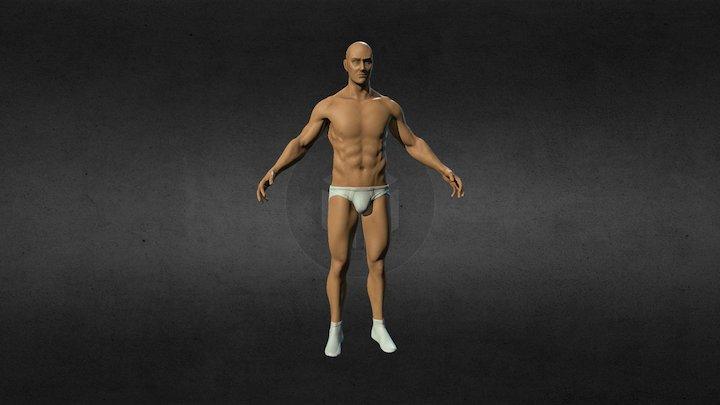 MALE ANATOMICAL BASE 3D Model