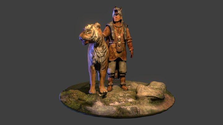 Eduardo the druid 3D Model