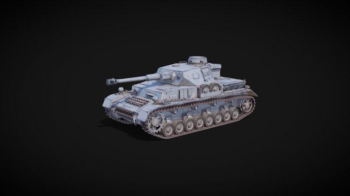 Panzer IV, German medium tank 3D Model
