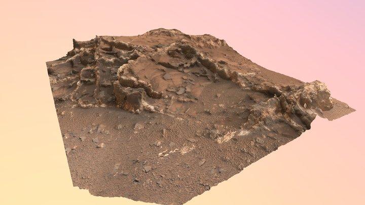 Garden City outcrop sulfate veins (Mars) 3D Model