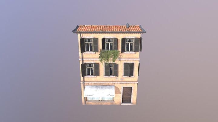 Low Poly Restaurant 3D Model