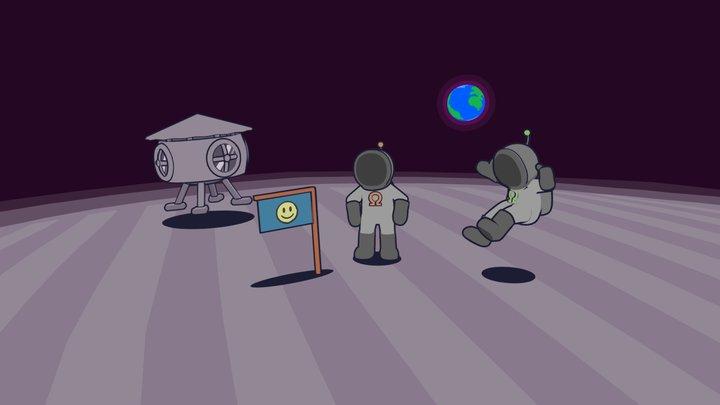 Moon Scene 3D Model