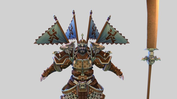 Ancient Chinese generals 3D Model