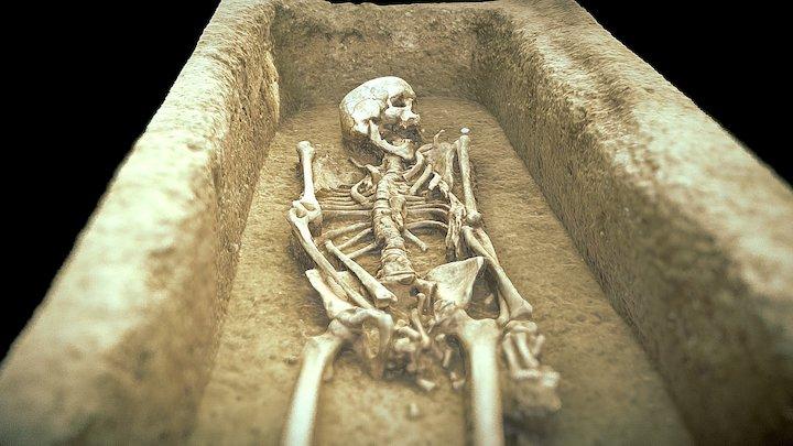 Grave  Great Moravia : 833-906/907 AD 3D Model