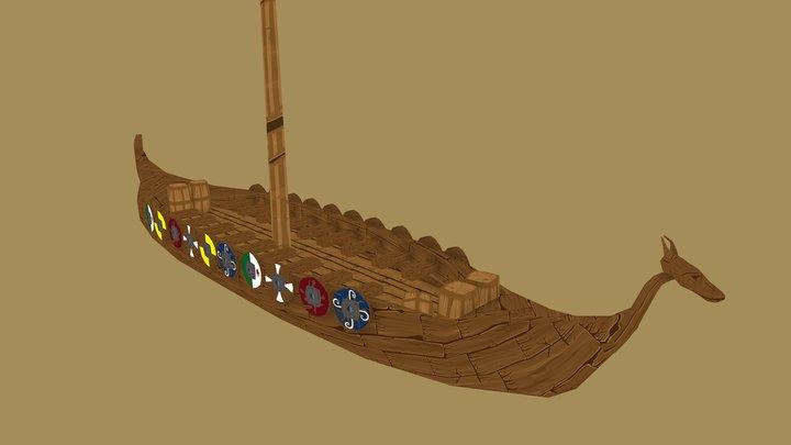 Viking Boat (drakaar) 3D Model