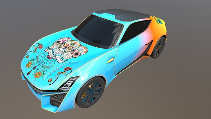 Allegorithmic X-TAON Art Car Contest 3D Model
