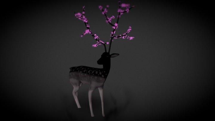 Deer in Mist 3D Model