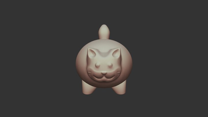 Stressball Cat 3D Model