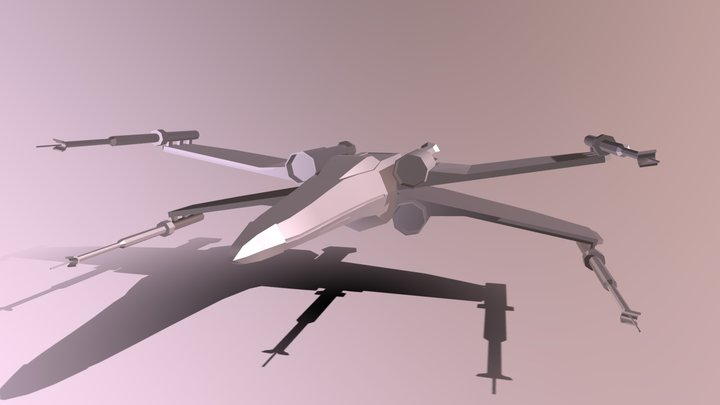Low Poly X-wing 3D Model