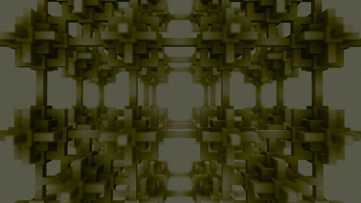 The Cube Fractal 3D Model