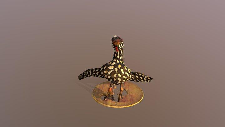Wooden bird sculpture - Vadsbo museum, Mariestad 3D Model