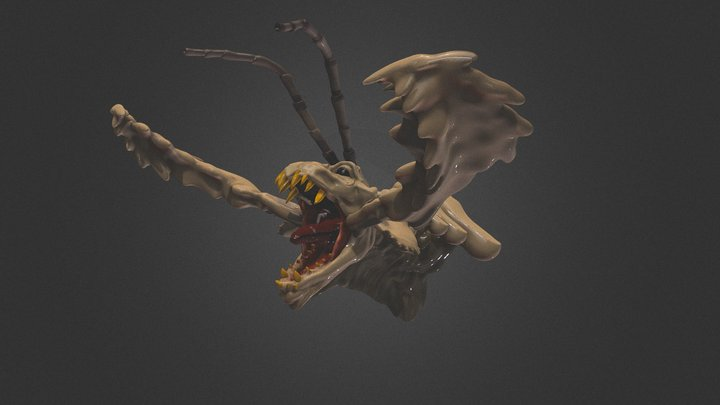 Onironauta VR 2019-12-19_Insect_dragon 3D Model
