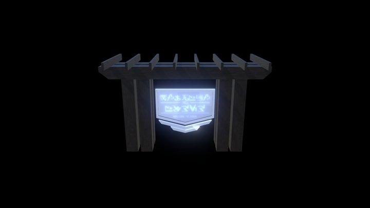Alien Resort Sign 3D Model