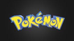 Pokémon Logo 3D Model