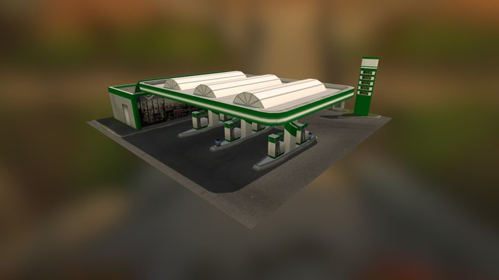 Cynth's Gas Station [Cities: Skylines Mod] 3D Model
