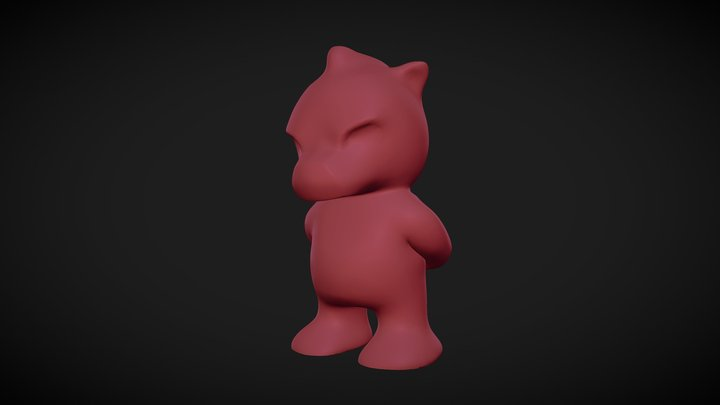 Angry Bear 3D Model