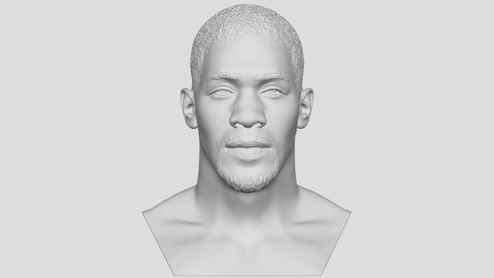 Anthony Joshua bust for 3D printing 3D Model