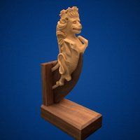 Lion Figurehead 2016.007 3D Model