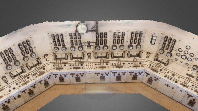 Control panel in Tyssedal powerplant 3D Model