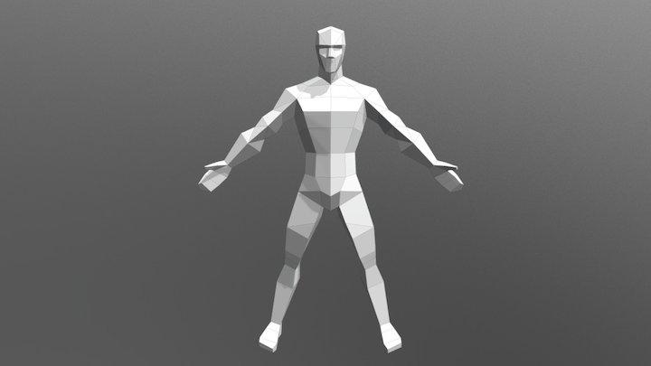 Low poly male model 3D Model
