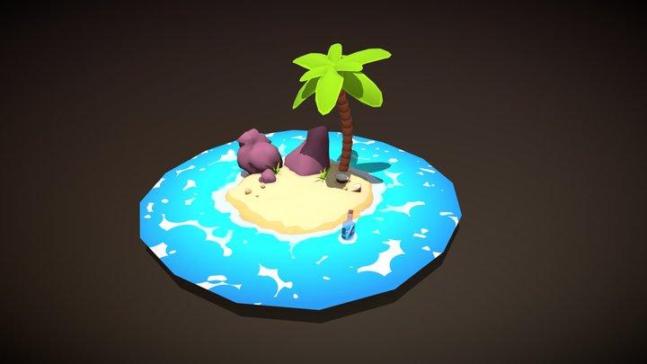 Little island 3D Model