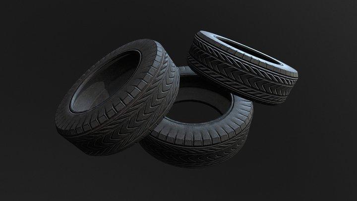 Good Tire Piles - PBR Game Assets 3D Model
