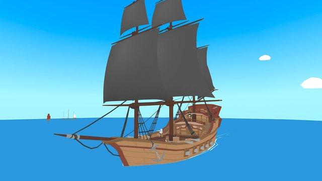 VR Showcase: Cartoony Pirate Ship 3D Model