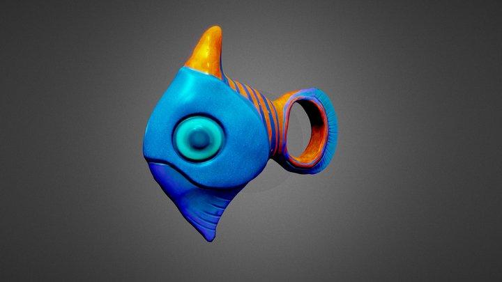 Stylized Fish, by GeorgyK. 3D Model