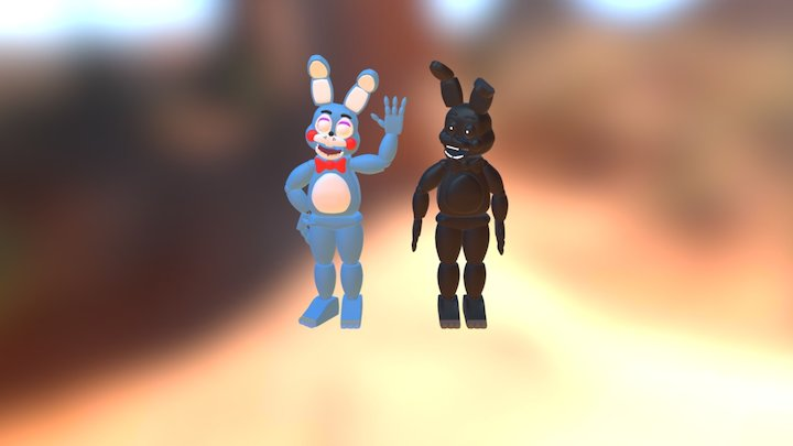 My Toy Bonnie And Shawdow Bonnie 3D Model