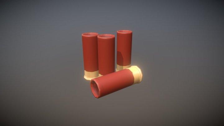 18.5mm Bullets 3D Model