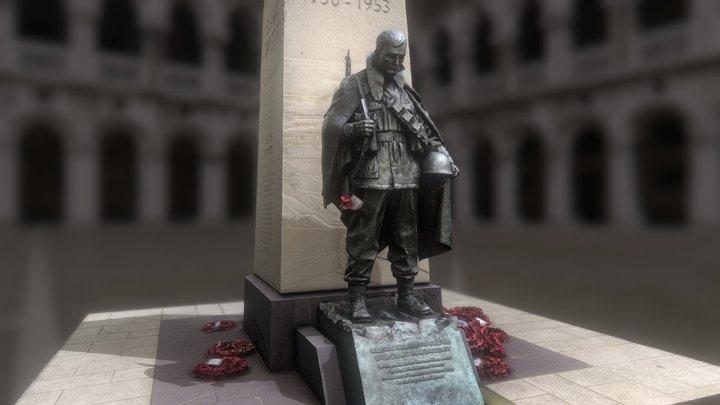 Korean War Memorial - London 3D Model