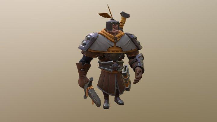 Stylized soldier 3D Model